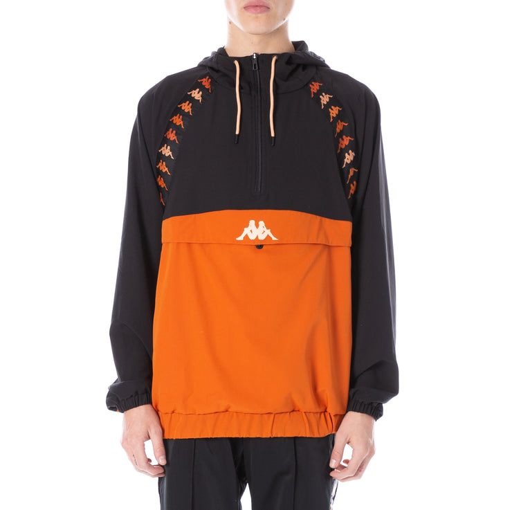 222 Banda Daxi Anorak Black Burnt Orange