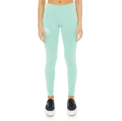 Authentic Pop Ezays Leggings - Green Spring White