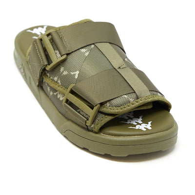 222 Banda Mitel 4 Sandals - Green Olive White