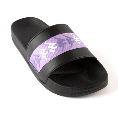 222 Banda Adam 15 Slides - Black Lilac White