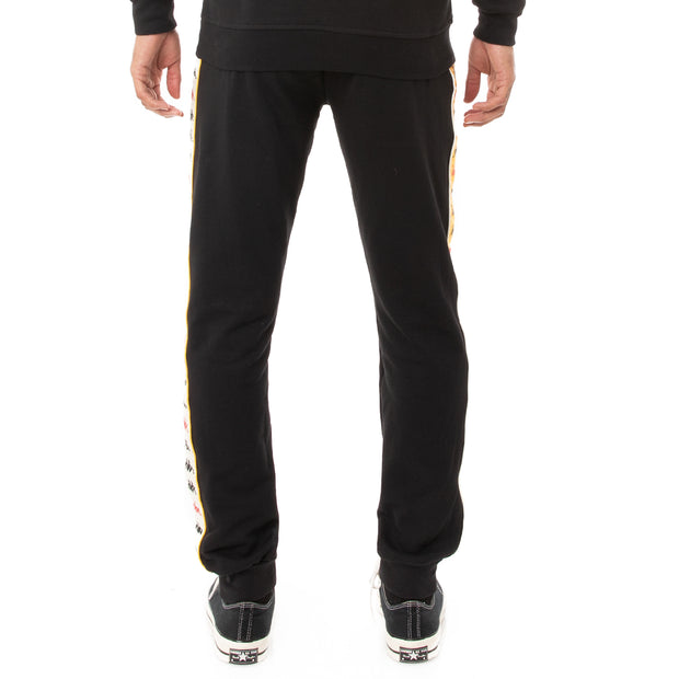 Kappa 222 Banda Alanz 3 Sweatpants - Black Red Yellow Gold