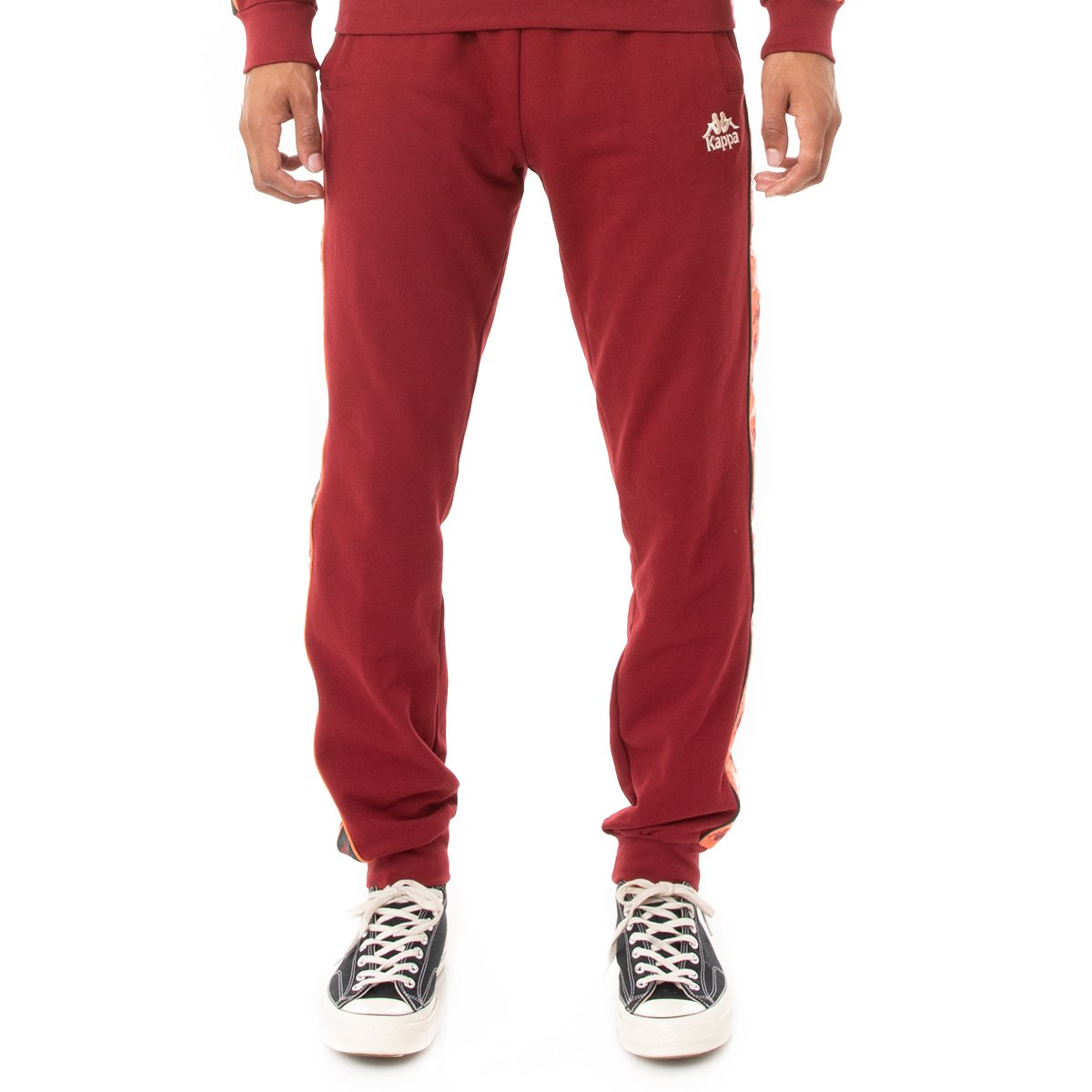 Kappa 222 Banda Alanz 3 Sweatpants - Red Dark Orange Green