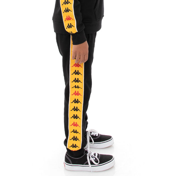 Kappa Kids 222 Banda Alanz 3 Sweatpants - Black Red Yellow Gold