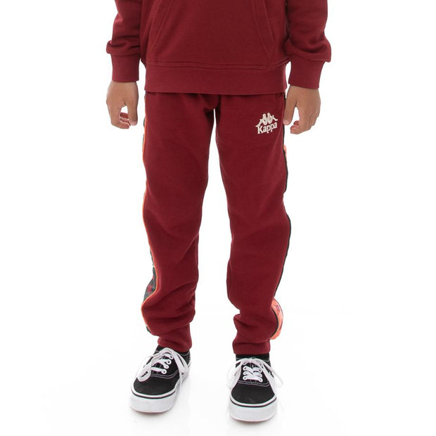 Kappa Kids 222 Banda Alanz 3 Sweatpants - Red Dark Orange Green