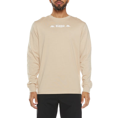 Authentic Sesia Long Sleeve T-Shirt - Beige White
