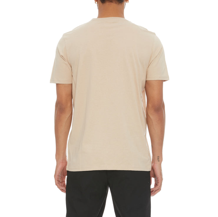Authentic Savio T-Shirt - Beige Sand White