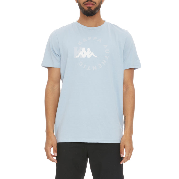 Authentic Savio T-Shirt - Baby Blue White