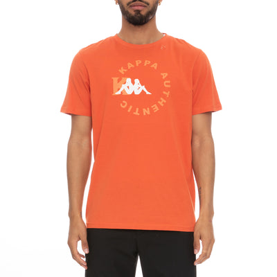 Authentic Savio T-Shirt - Orange Dusty White