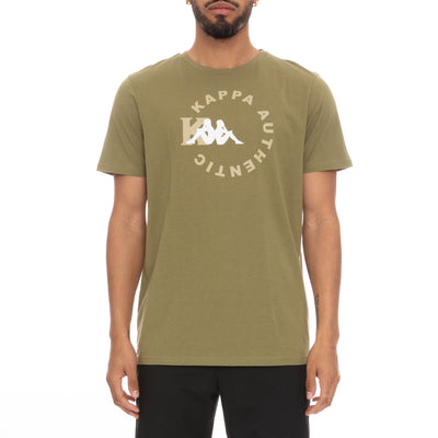 Authentic Savio T-Shirt  - Green Olive