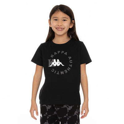 Kids Authentic Savio T-Shirt - Black Grey White