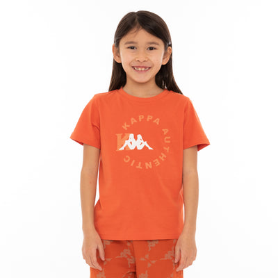 Kids Authentic Savio T-Shirt - Orange White