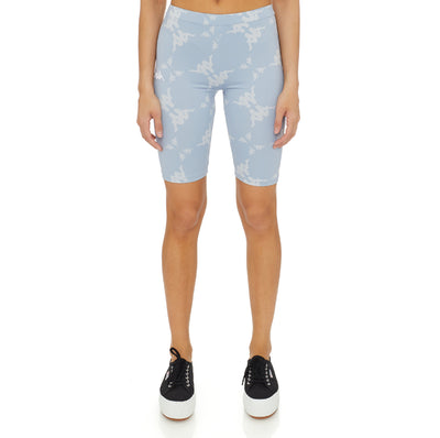 Authentic Malin Bike Shorts - Baby Blue White
