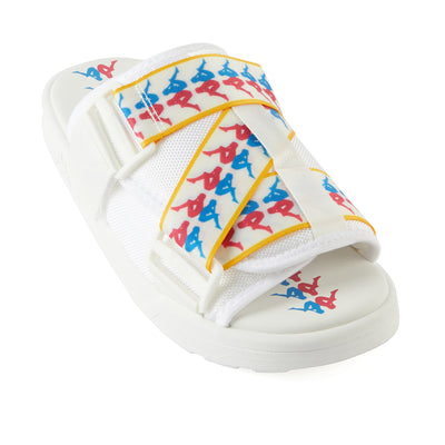 222 Banda Mitel 6 Sandals - White Fuchisa Blue