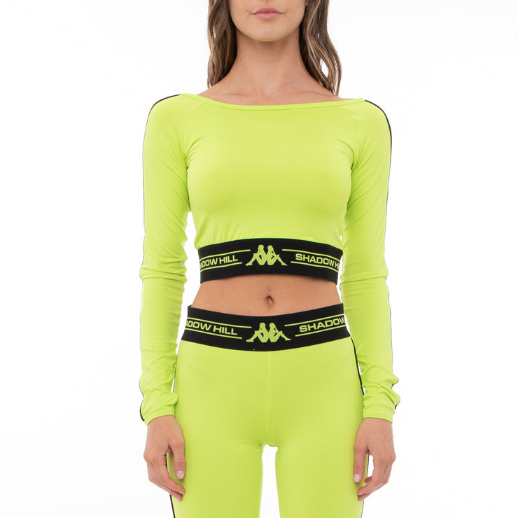 Authentic Shadow Serem Crop Top - Lime
