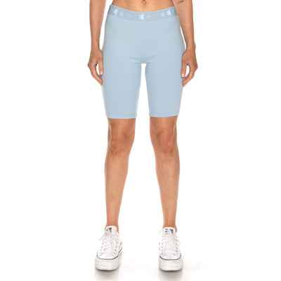 222 Banda Emilana Bike Shorts - Baby Blue White