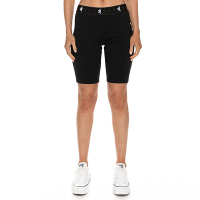 222 Banda Emilana Bike Shorts - Black White