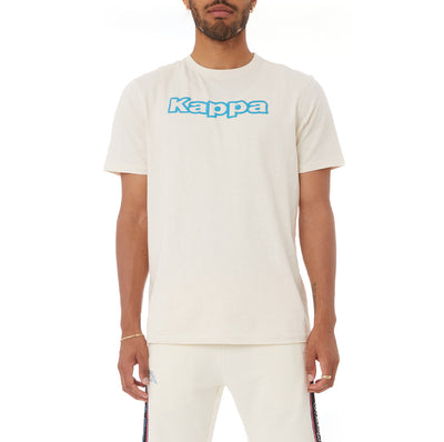 Kappa Logo Tape Cabal T-Shirt - Cream