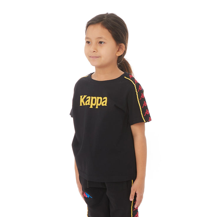 Kappa Kids Authentic Bendoc T-Shirt - Black