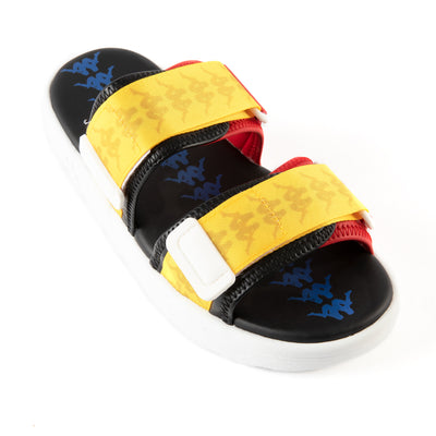 222 Banda Aster 5 Sandals - Black Yellow Red