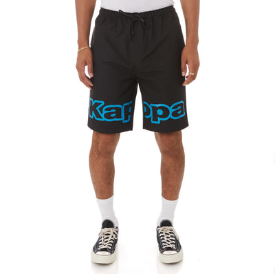 Kappa Logo Tape Colm Shorts - Black