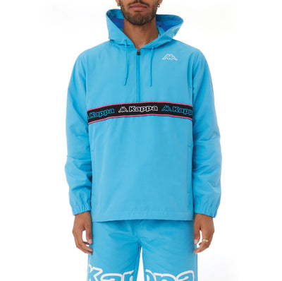Kappa Logo Tape Cooper Half Zip Jacket - Blue
