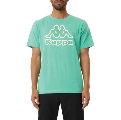Logo Tape Bant T-Shirt - Green