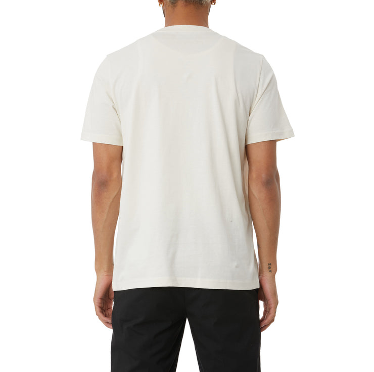 Logo Tape Bant T-Shirt - Cream