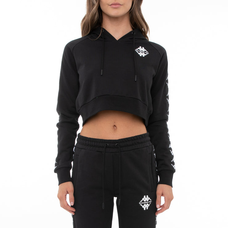 Authentic Shadow Sedot Crop Hoodie - Black