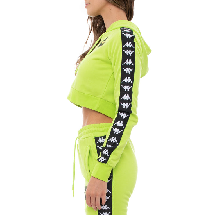 Authentic Shadow Sedot Crop Hoodie - Lime