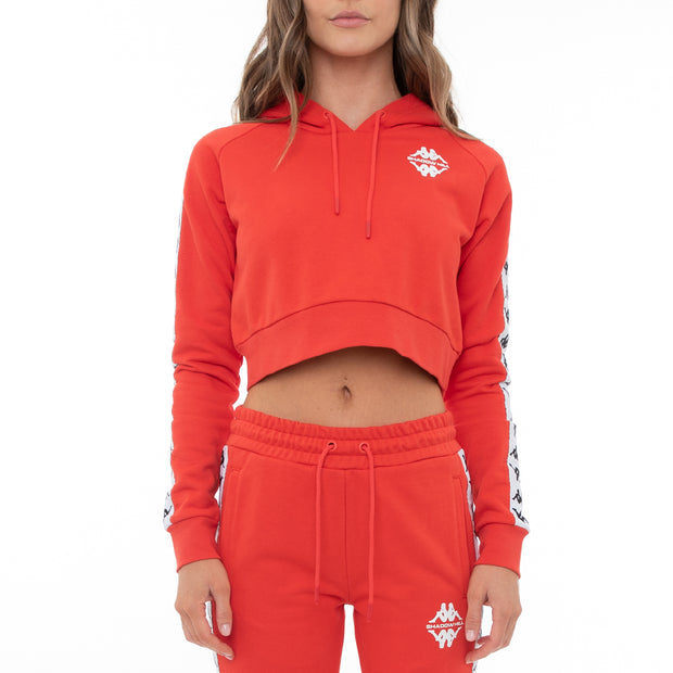 Authentic Shadow Sedot Crop Hoodie - Red