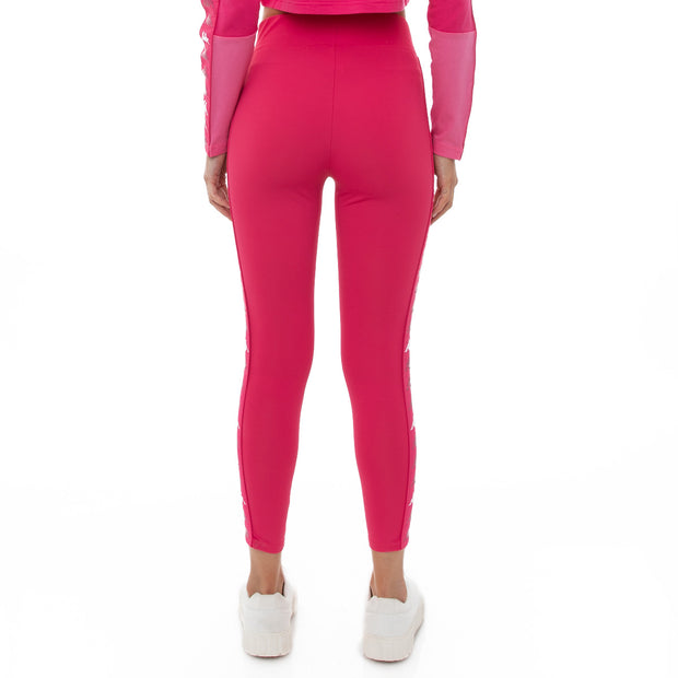 Kappa 222 Banda Bartes Leggings - Pink Raspberry White