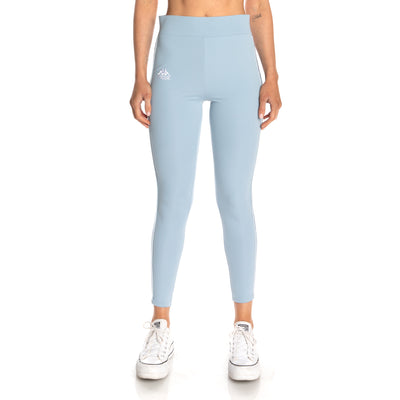 222 Banda Bartes Leggings - Baby Blue White