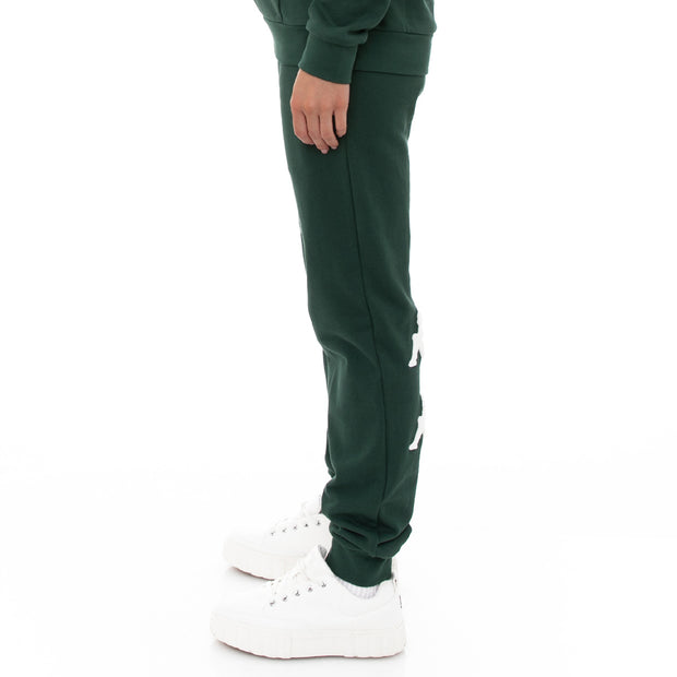 Kappa 222 Banda Breat Sweatpants - Dark Green White