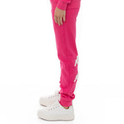 Kappa 222 Banda Breat Sweatpants - Pink Raspberry White