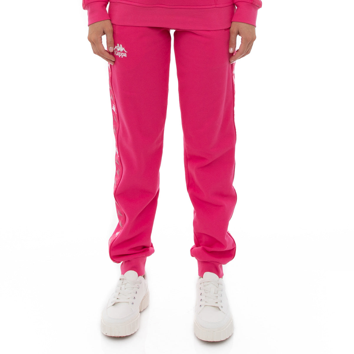 Kappa 222 Banda Brily Sweatpants - Pink Raspberry White