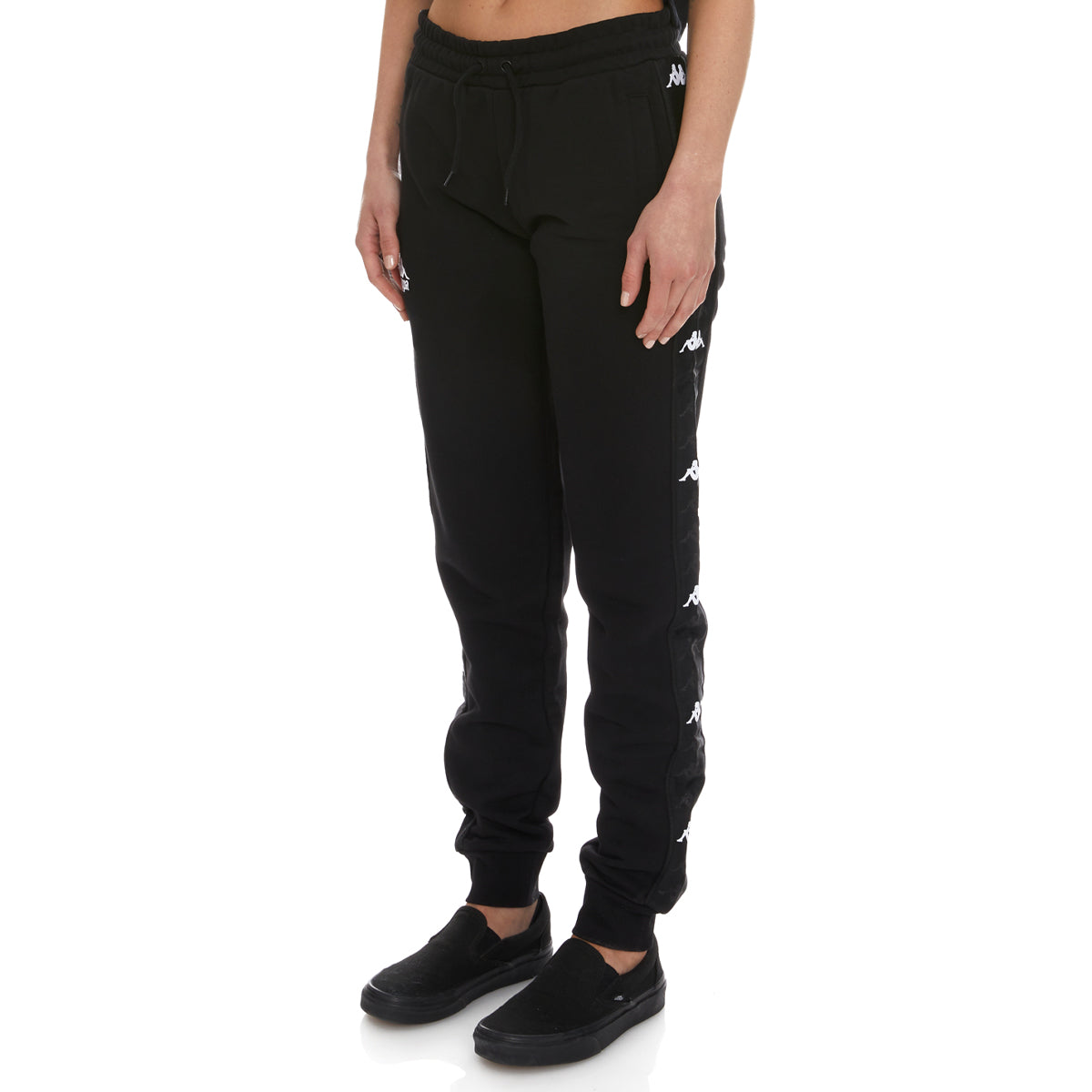 Kappa 222 Banda Brily Sweatpants - Black White
