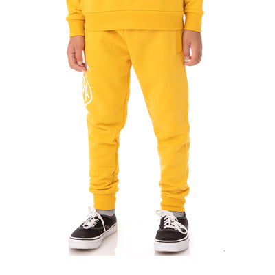 Kids Authentic Pop Paldi Sweatpants - Yellow Dk White