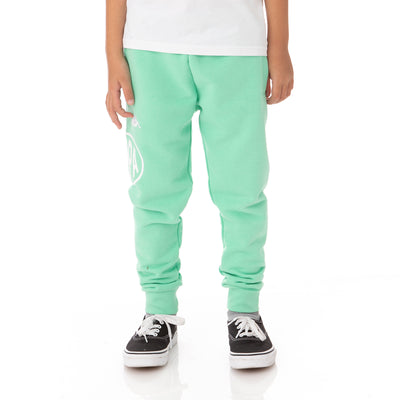 Kids Authentic Pop Paldi Sweatpants - Green Spring White