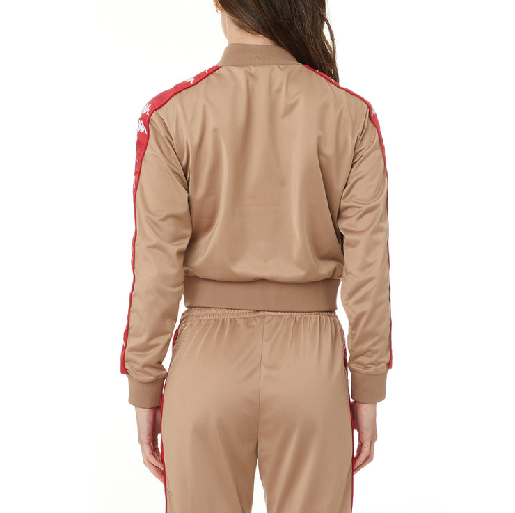 222 Banda Ponce Track Jacket - Brown Red