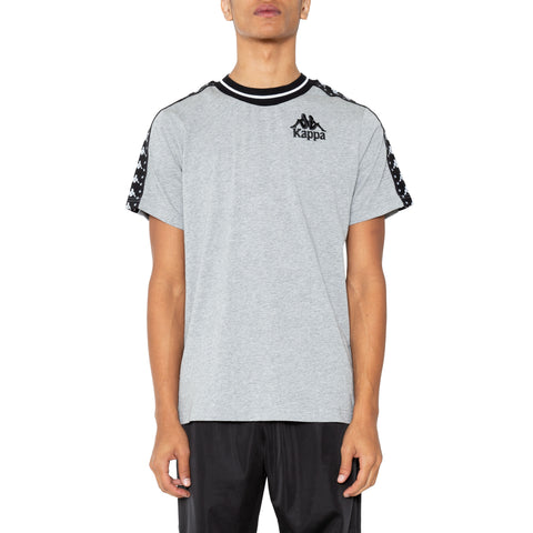 Kappa Authentic Anchen Grey Md Mel Black T-Shirt