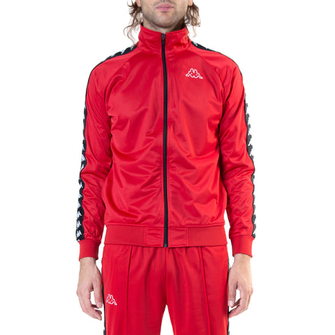 Kappa 222 Banda Anniston Slim Dk Red Black Track Jacket