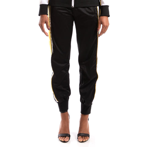 KAPPA 222 Banda 10 Arsis Black White Yellow Gold Track Pants