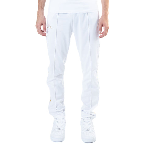 Kappa 222 Banda Astoria Slim White Gold Track Pants