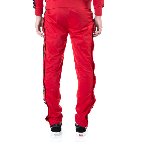 Kappa 222 Banda Astoria Snaps Slim Dk Red Black Pants