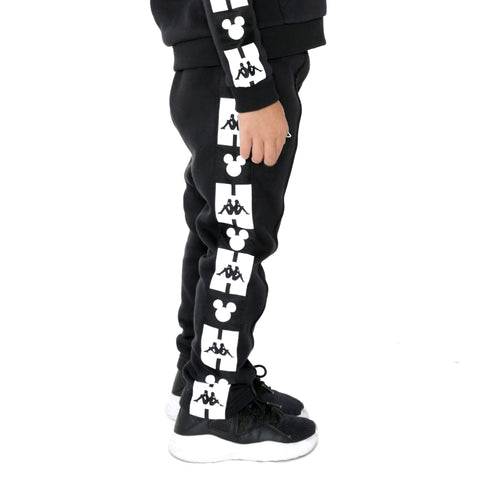 Kappa Kids Authentic Alphonso Disney Black Sweatpants