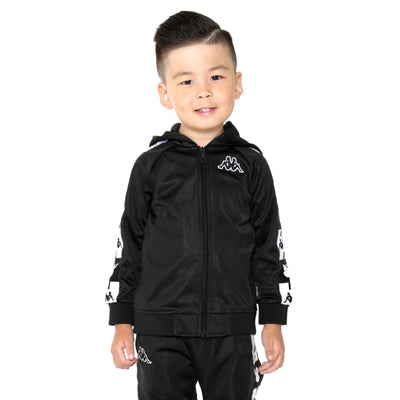 Kids Authentic Ander Disney Black Hooded Track Jacket