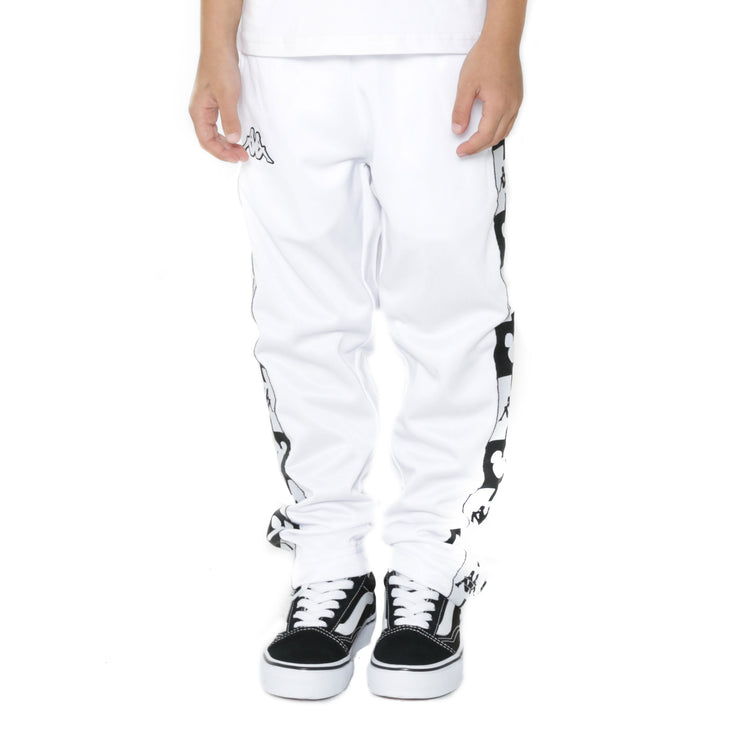Kappa Kids Authentic Anthony Disney White Track Pants