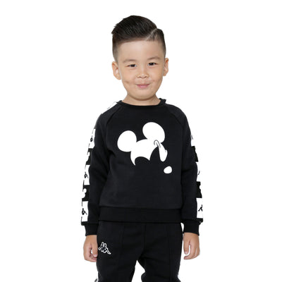 Kappa Kids Authentic Audley Disney Black Sweatshirt