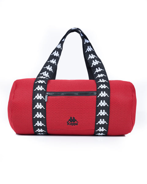 Authentic Angy Red Dk Black White Large Duffle