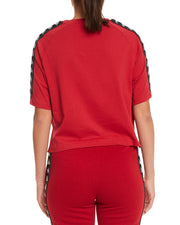 Kappa 222 Banda Avant Red Dk Black Top - Back